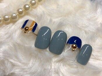 ネイルアンドアイラッシュ ブレス エスパル山形本店(BLESS)/フェミニンなストライプ
