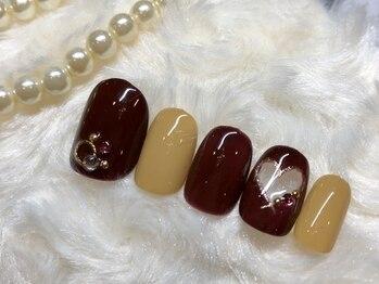 ネイルアンドアイラッシュ ブレス エスパル山形本店(BLESS)/ハートくり抜きネイル!