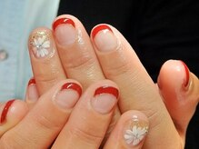 ビューティーサロン ルームフォーユー(Room 4U)/定額サンプル梅☆赤フレンチに花