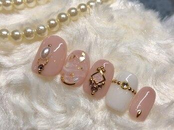 ネイルアンドアイラッシュ ブレス エスパル山形本店(BLESS)/ガーリーゴージャス☆