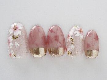 エリール(elire)/桜☆大理石に金粉を合わせて