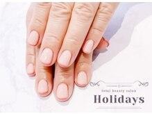 ホリデイズ(Holidays)/ピンクとゴールドのダブルライン