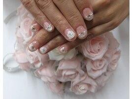 結婚式ウェディングネイル薔薇3D