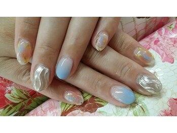ネイルサロンカリプソ(Nail Salon Calypso 2)/ミラーネイル☆