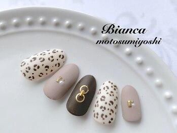 ビアンカ 元住吉店(Bianca)/大人ヒョウ柄ネイル¥7980