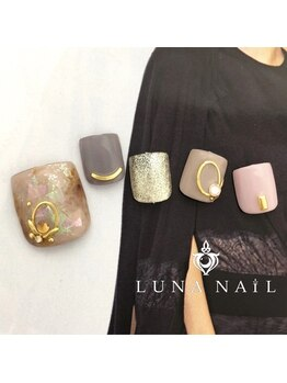 ルナ ネイル(LUNA NAIL)/【フット】天然石風ネイル