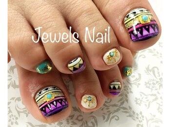 ジュエルズ ネイル(Jewels Nail)/フット持ち込みデザイン