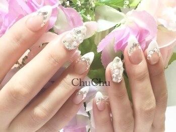 ネイルサロン チュチュ(Nail Salon Chu Chu)の写真/強度&持ちしっかり!高技術スカルプで、憧れの『指が細長く見える』美人爪へ♪ラメ&付け放題クーポン有り★