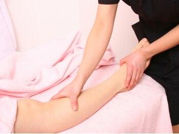 小顔矯正 アメリ ビューティーサロン(Ameri beauty salon)の写真/≪岡崎駅スグ≫下半身太りや脚のむくみはリンパの滞りが原因…しっかり流して、美しい体型をキープしよう♪