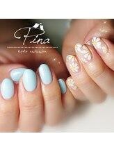 ピーナ ネイルアンドビューティー(Pina nail&beauty)/アシンメトリー♪可愛い手書き★