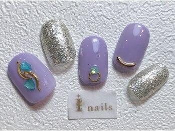 アイネイルズ 梅田店(I nails)/ラベンダー×シェル