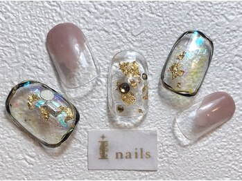 アイネイルズ 梅田店(I nails)/クリアニュアンスネイル