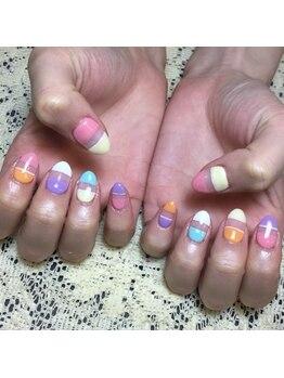 プライベートサロンアリュール(Private Salon Allure)/POPカラーでHAPPY ネイル☆