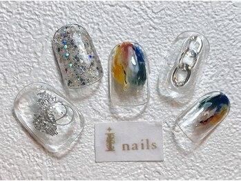 アイネイルズ 梅田店(I nails)/夏色クリアネイル