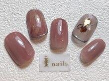 アイネイルズ 梅田店(I nails)/ブラウンニュアンスネイル