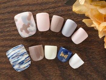 ネイルサロンアンドスクール グーフィー(nail salon&school goofy)/フットネイル7500円+ア-ト1250円