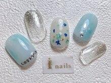 アイネイルズ 梅田店(I nails)/押し花ニュアンス