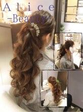 アリス ビューティアンドカフェ(Alice Beauty&Cafe)/オールバック☆ハーフアップ