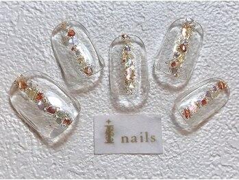 アイネイルズ 梅田店(I nails)/シェルクリアネイル