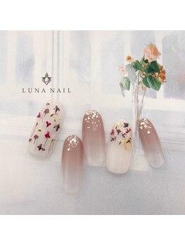 ルナ ネイル(LUNA NAIL)/大人カラー*押し花ネイル