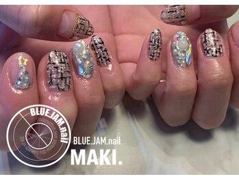 ブルージャムネイル(BLUE.JAM.nail)/FREEDOMコース☆design by MAKI