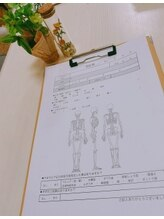 カラダドリーム(KARADA DREAM)/問診表のご記入からスタート