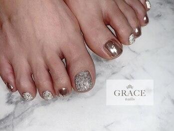 グレース ネイルズ(GRACE nails)/フラッシュとミラー