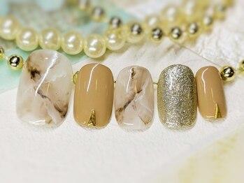 ネイルアンドアイラッシュ ブレス エスパル山形本店(BLESS)/大理石ネイル