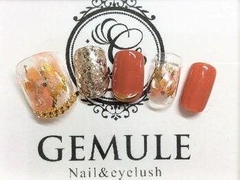 ネイルアンドアイラッシュ ジェムール 川越店(Nail&Eyelash GEMULE)の写真/【フットお手入れケアコース ¥5000】フットも旬アートを豊富にご用意!更に角質ケアでつるすべ足に♪
