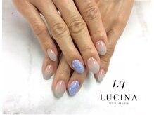 ネイルスタジオ ルキナ(LUCINA)/Y -996 紫陽花カラー水滴ネイル