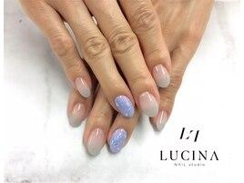 Y -996 紫陽花カラー水滴ネイル