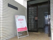 ピーチ(Peach)の雰囲気(この看板が目印です♪)