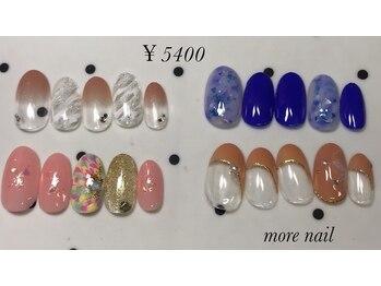 モアネイル(more nail)/7月定額デザイン ¥5400