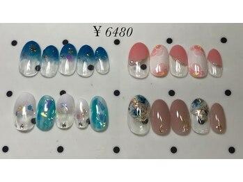 モアネイル(more nail)/7月定額デザイン ¥6480コース