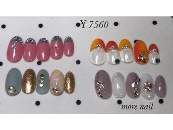 モアネイル(more nail)/7月定額デザイン ¥7560