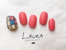 ローラポンポニー(Laura pomponnee)/ブロックチェック×マット