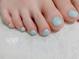 【FOOT】 メタリックオーロラ
