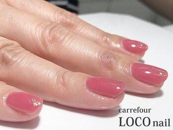 カルフール ロコ ネイル 草加西口店(Carrefour LOCO nail)/シンプルコース+ラメプラス