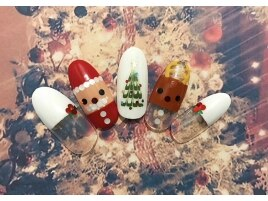 ジューシークリスマスネイル