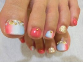 ■渋谷>付け放題8500円春色Foot