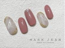 マークジーン 姫路(MARK JEAN)/大理石 ミラー ゴールド ネイル
