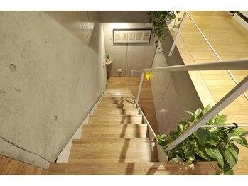 アロマアンドボディデザインサロン アースカラー 自由が丘(EARTH COLOR)/1F→地下1Fへの階段