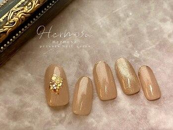 エルモッサ(Hermosa)の写真/自爪に優しいフィルインベース◇シンプルオフィスネイル大人女性向け上品な指先に♪