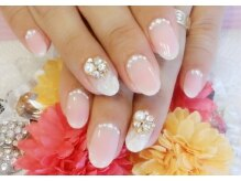 トリーシア(Nail & Beauty Salon Tri-xia)/チーク&ビジューネイル