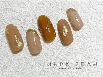 マークジーン 姫路(MARK JEAN)/ブラウン マーブル ネイル
