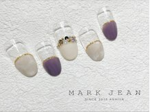 マークジーン 姫路(MARK JEAN)/大理石 ビジュー ネイル