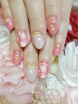 トリーシア(Nail & Beauty Salon Tri-xia)/レースネイル