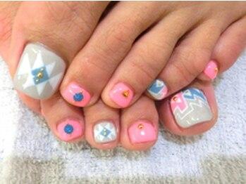 ■渋谷>付け放題9350円春色Foot