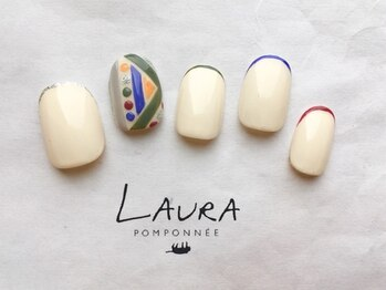 ローラポンポニー(Laura pomponnee)/カジュアル細フレンチ