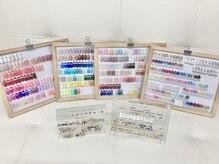 ネイルズ バイ アトム(nails by ATOM)の雰囲気(カラー・ラメ300色以上!スワロやパーツもとっても豊富♪♪♪)
